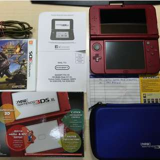 Nintendo New 3DS XL with MH4U