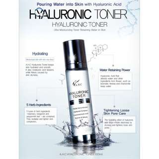 A.H.C Hyaluronic Toner 100ml bottle