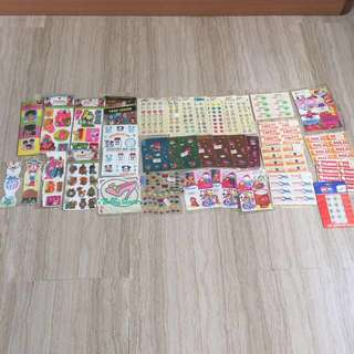 Stickers collection 40 sets  $30 in bundle