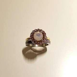韓國時尚水晶石介指 (一套兩隻戴)