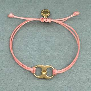 Tory Burch Sample Bracelet 粉紅色配金色手繩手鏈情侶手帶