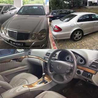 Mercedes E200k For Rental