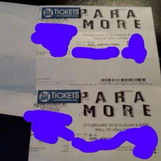 2 Paramore Tour Four MNL Gen Ad tickets