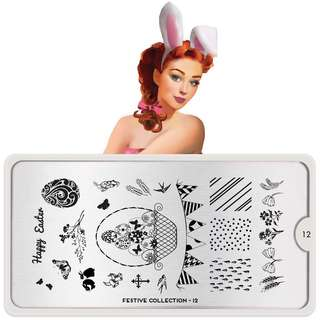 Moyou London Nail Art Stamping Plate Festive 12 Easter Nails