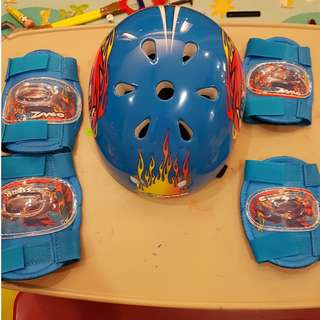 Kids' helmet, elbow and knee pads