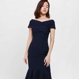 BNWT Rosamonde Off Shoulder Trumpet Dress