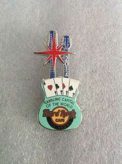 Hard Rock Cafe Pins - LAS VEGAS HOT 2014 GAMBLING CAPITAL OF THE WORLD GUITAR PIN!