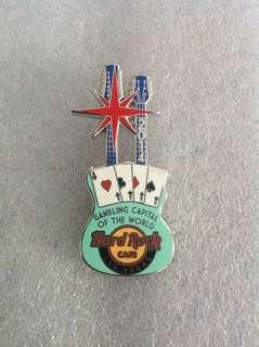 Hard Rock Cafe Pins - LAS VEGAS HOT 2014 GAMBLING CAPITAL OF THE WORLD GUITAR PIN!