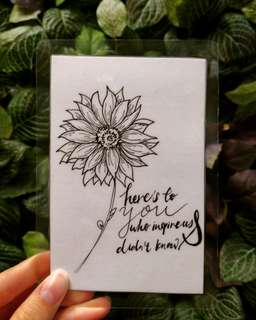 Customized Floral card/bookmark