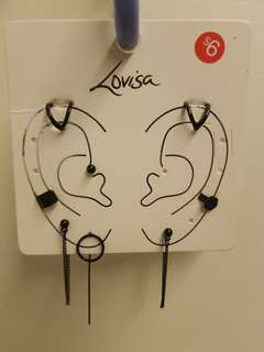Black earrings (set)