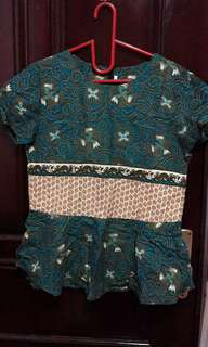 Tosca peplum batik top