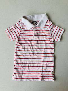 Cotton On Boy's Striped Polo T Shirt