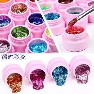 glitters nail gel polish