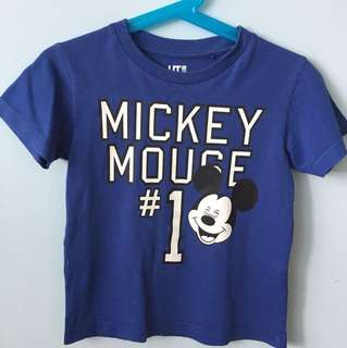 Uniqlo Boy's UT T-shirt - Mickey Mouse
