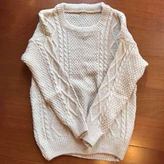 米白針織毛衣