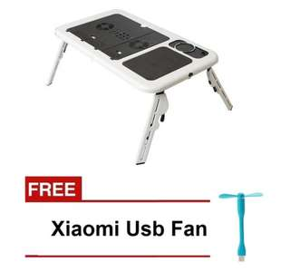 E Table Laptop Stand with Free USB Fan