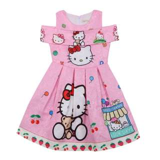(Pre-order) Hello Kitty Kids Princess Dress (Pink) #518