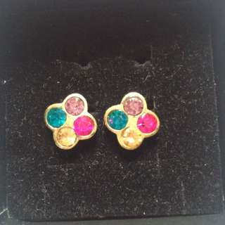 4 colored stone earrings