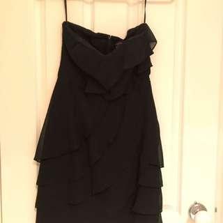 Pilgrim Black Strapless Dress (Size 8)