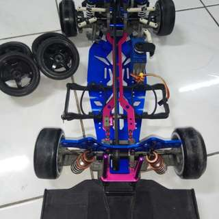Drift rc aloy chassis kit plus servo!