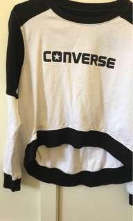Converse crop jumper