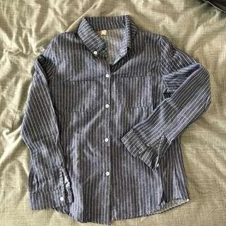 Blue Strip Button Shirt