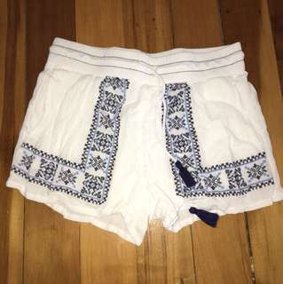 Just jeans embroidered shorts