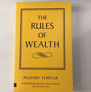 The rules of wealth - Richard Templar