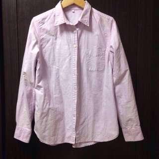 🚚 無印良品粉紫襯衫#手滑買太多
