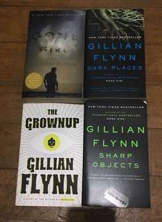 4 Gillian Flynn books Gone (Girl Dark Places Sharp Objects The Grownup) for P600