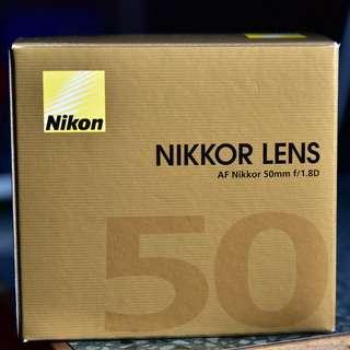 Nikon AF Nikkor 50mm f1.8D Lens (Brand New with Nikon warranty)