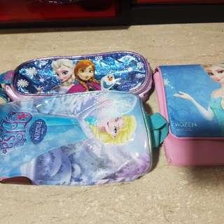 Frozen Sling Bag + 2 pencil case