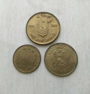 Nepal 3 coins