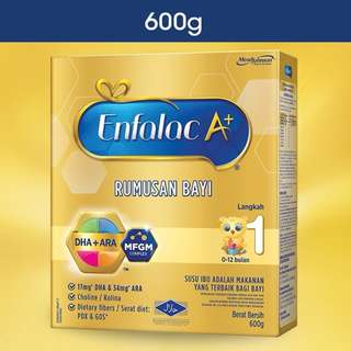 [Ready Stock] Enfalac A+ Step 1 600g Baby Formula Milk (Original)