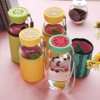 Colorful fruit water bottle