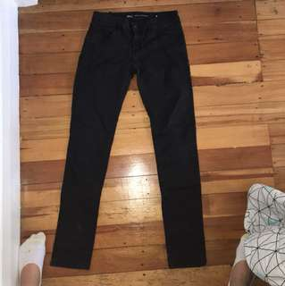 Faded black denim jeans by Riders