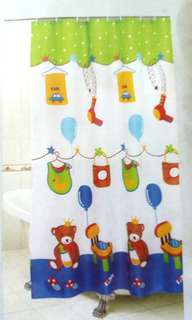 Polyester Shower Curtain 可機洗浴簾