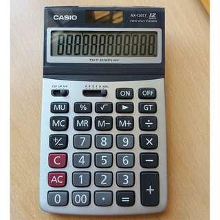 Casio 12位 AX-120ST 計數機, 計算機, calculator