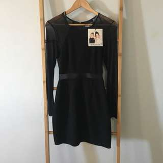 Mink Pink black bodycon dress