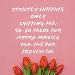 STRICTLY SHIPPING ONLY