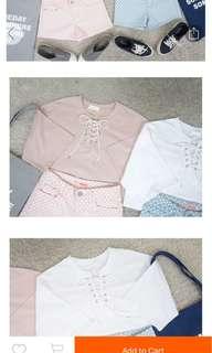 Pink shirt w string