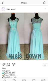 Bridesmaid gown ML-019