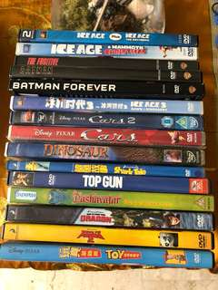 Children Animation movie DVD's