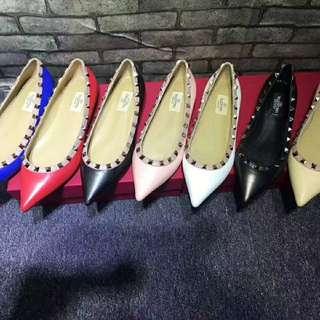 最高質量 羊皮鞋 平底鞋 窩釘鞋 女裝鞋 women slip on shoes