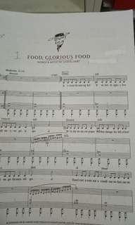 Food glorious food choir score
