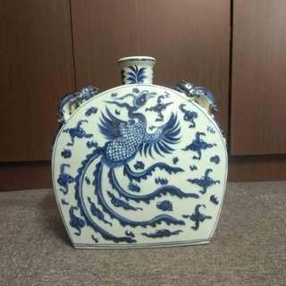Blue and White glazed Porcelain Vase