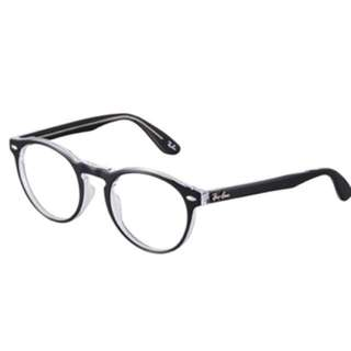 ray ban crystal oval glasses