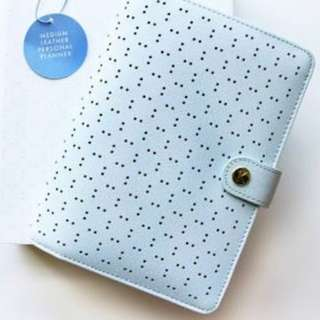 KIKKI K ICE BLUE PERFORATED PLANNER (MEDIUM)