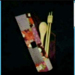 In Stock Chopstick Set Wooden Chopsticks And Spoon With Pouch From Japan
