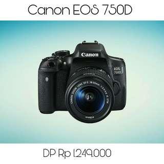 Kredit Kamera Canon 750D, Promo Tanpa Kartu Kredit